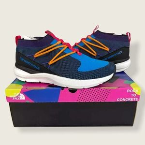 North Face Sumida Moc Knit Athletic Sneakers Blue